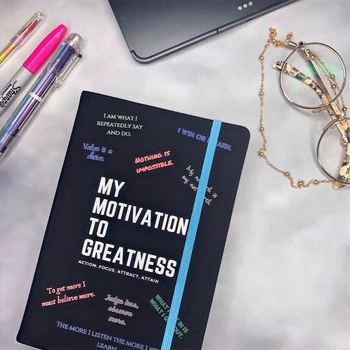 Black Motivational Notebook