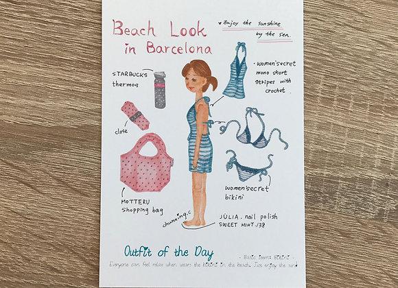 Beach look in Barcelona