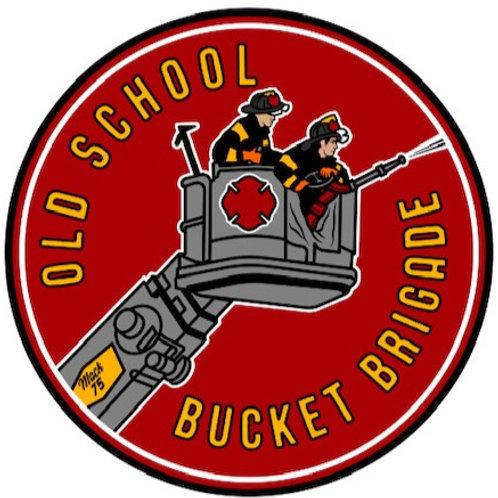 Old School Bucket Brigade Sticker