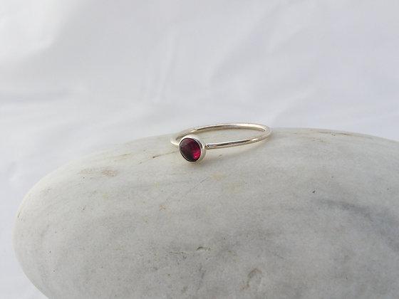 Garnet wee ring