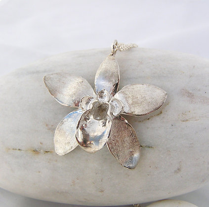 Natural orchid pendant