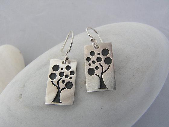 Fruit tree earrings