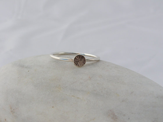 Silver disc wee ring