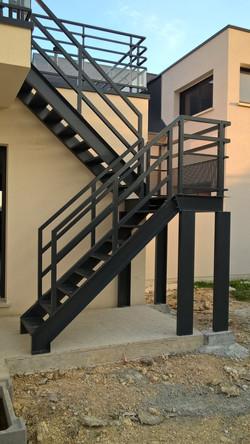 Escalier et rampe moderne