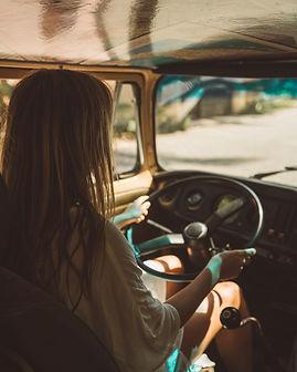 Conduciendo una furgoneta