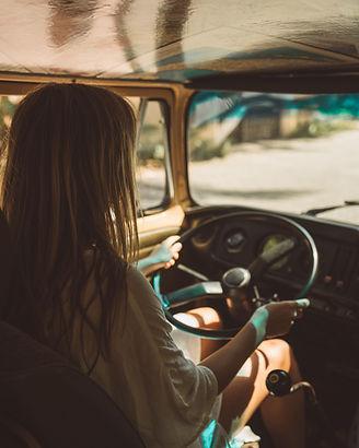 Das Fahren eines Van