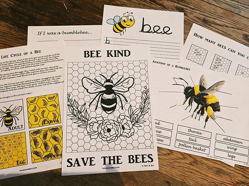 Bee Activity Workbook