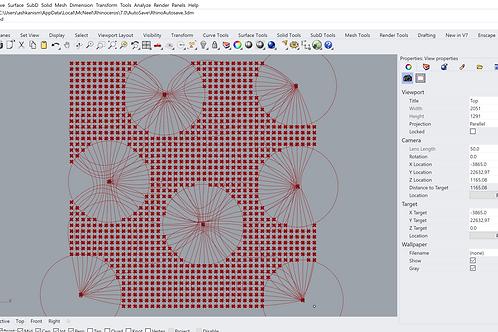 C#_Grasshopper: Pinched Grid