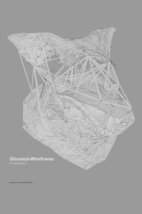 Houdini: Ghosted-Wireframe Rendering Setting In Mantra
