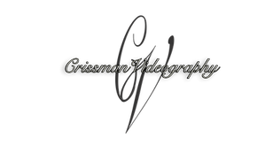 This logo is owned by crissman videography. It was created by casey crissman who is the chief wedding videographer and provides all of the wedding videography services performed.