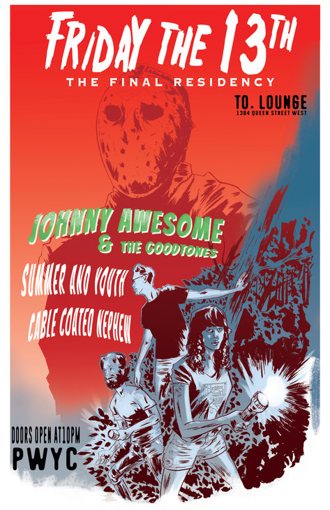 johnny Awesome and The Goodtones gig poster
