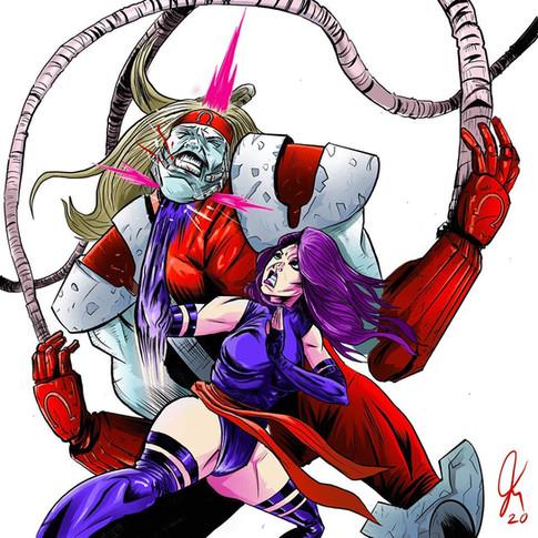 Psylocke Vs. Omega Red