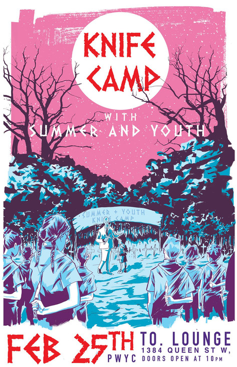 Knife Camp gig poster