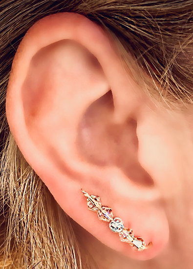 Ear Climber Swarovski Crystal Earrings