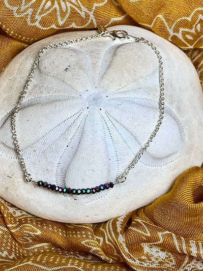 Sterling silver beaded anklet