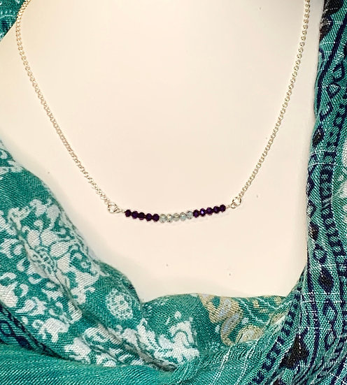 Sterling Silver necklace with crystal accents