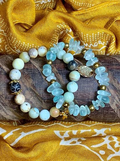 Stretchy beaded bracelets