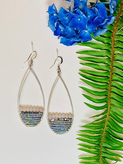 Sterling silver earrings with beaded accents