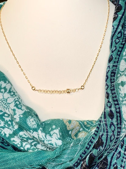 14kt Gold necklace with crystal accents