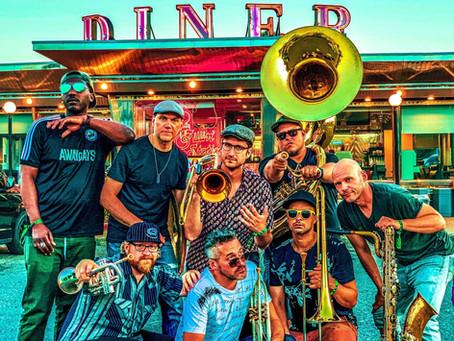 CSPS Hall brings the LowDown Brass Band to NewBo City Market