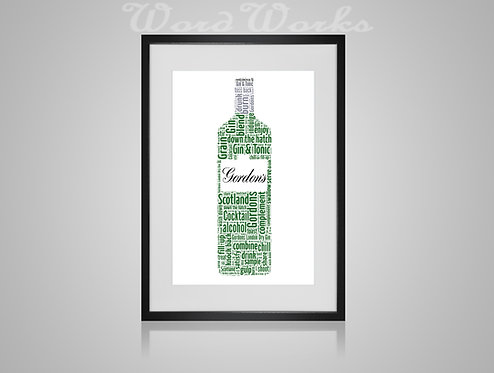 Personalised Word Art Print Gifts, Unique Keepsake gifts, Mothers Day gift, gifts for mum mummy, Gin lover, Gin Art Print