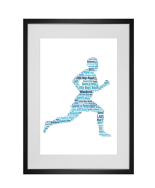 Personalised Word Art Gifts, Unique Keepsake gifts, Gifts for him, sports gifts, Fathers Day, Runner Run Jogger Print Gift