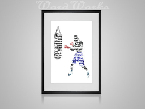 Personalised Word Art Gifts, Unique Keepsake gifts, Gifts for him, sports gifts, fathers day, Boxer Print, Boxer Design