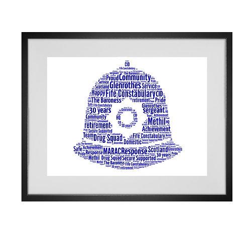 Personalised Word Art Gifts, Unique Keepsake gifts,  Gifts for her, Gifts for him, Retirement Gifts, police officer print