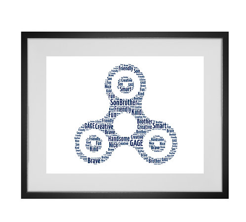 Personalised Word Art Gifts, Unique Keepsake gifts, personalised Letter Art, custom made Fidget Spinner print
