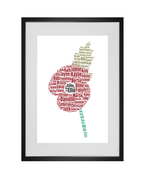 Personalised Word Art Gifts, Unique Keepsake gifts,  Gifts for her, Gifts for him, Poppy print, Flower Art
