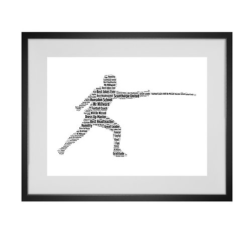 Fencer Fencing Personalised Word Art Gifts, Unique Keepsake gifts, sports gifts, Sabre Foil Epee