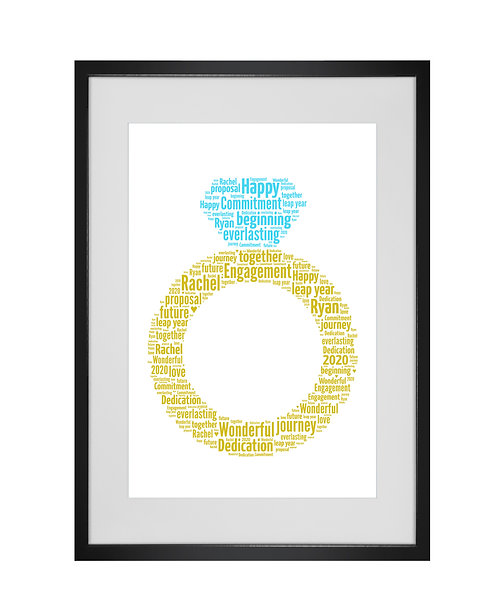 Personalised Word Art Gifts, Unique Keepsake gifts, personalised Wedding engagement proposal, Gift for her, Gift for him