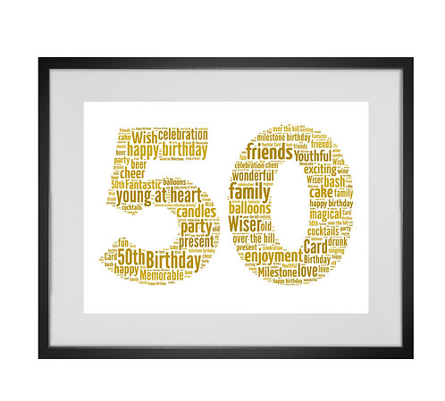 Personalised Word Art Gifts, Unique Keepsake gifts, personalised Number Art, Birthday Gifts, Gifts for him, Gifts for her