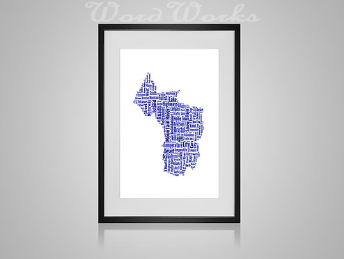 Personalised Word Art Gifts, Unique Keepsake gifts,  Gifts for her, Gifts for him, Map prints, hometown print, Bristol Map