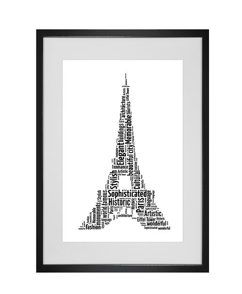 Personalised Word Art Gifts, Unique Keepsake gifts, Paris, France, Proposal Art, romanic gift, Gift for her, Gift for him