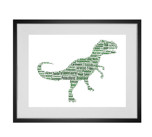 Tyrannosaurus Rex, T-Rex Art, Dinosaur gifts, Dino gifts, gifts for boys, dinosaur lover, personalised gifts, gifts for him