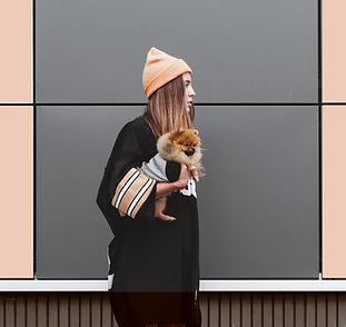 Woman with Pomeranian Puppy