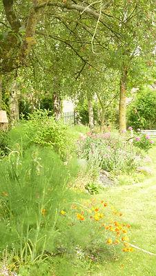 La Maison du Passant - chambres d'hotes et roulotte à chouze sur loire : première photo du jardin