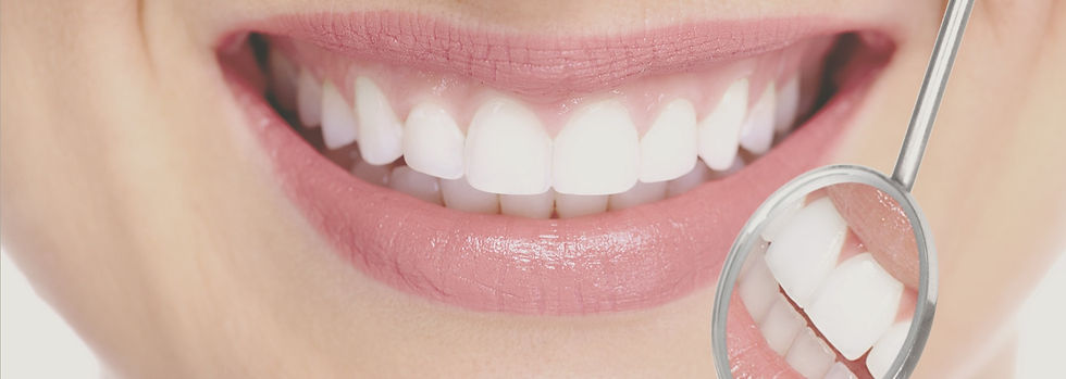 Smile with Dental Mirror