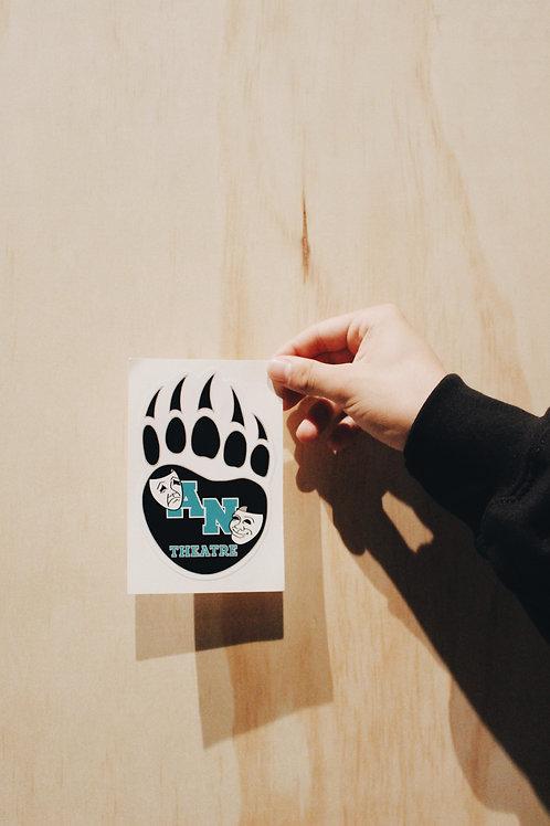 Aliso Niguel Theatre Company Paw Sticker