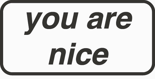 You are nice sticker pack with 2 badges