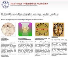 Hamburger Heilpraktiker Fachschule website