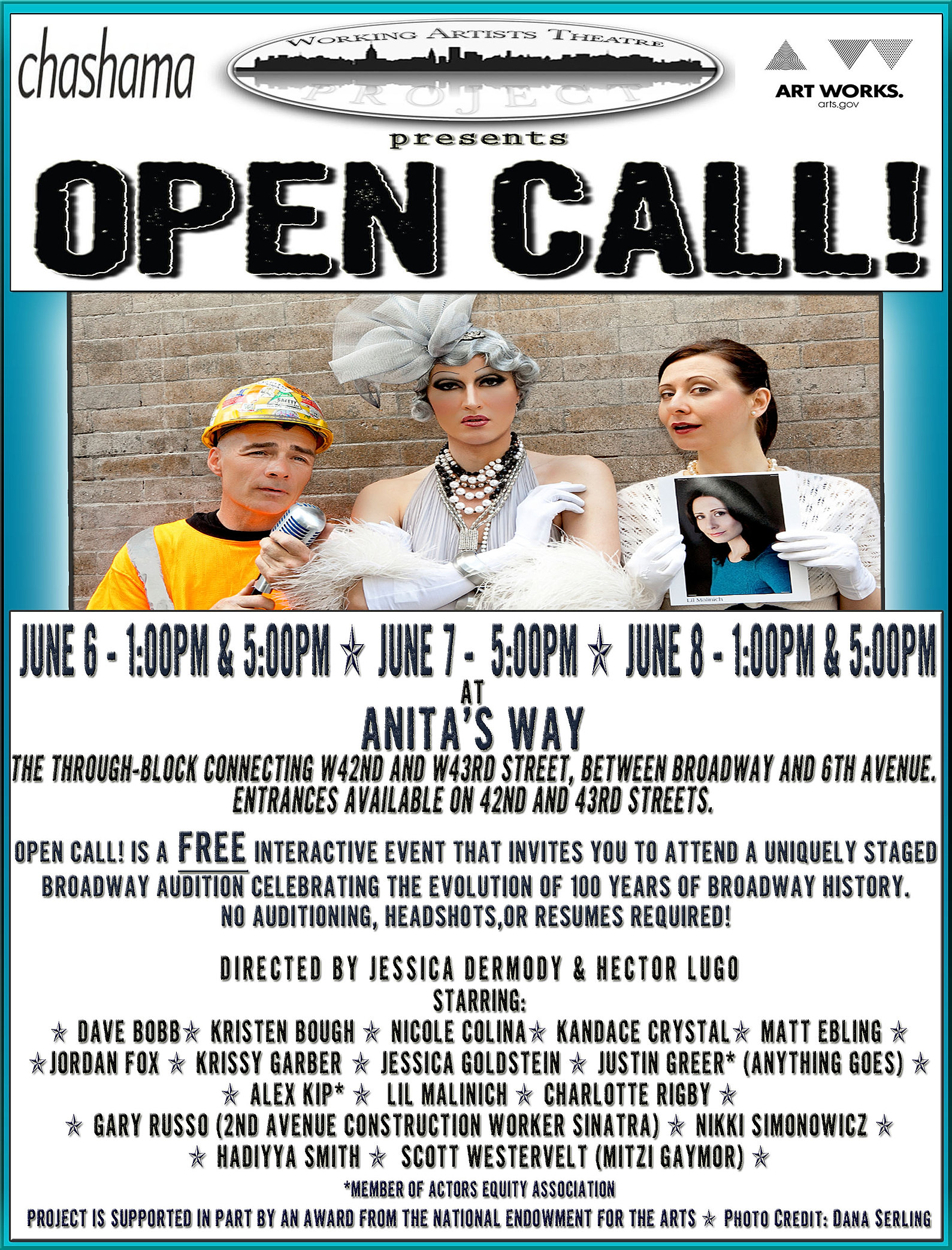 jessica dermody director producer wardrobe new york about open call flyer 2012 jpg