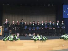Slavnostní promoce studentů oboru Prostředí staveb a TZB (Bc.) v roce 2019