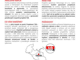 Nabídka práce 04/2020 - Projektant TZB
