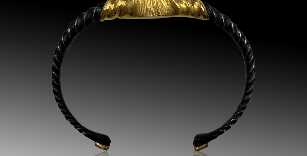 Damascene Steel 24K Wrapped Bracelet - Men's