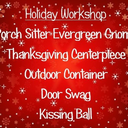 Holiday Workshop - Dec. 5