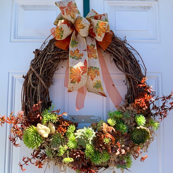 Fall Succulent Wreath Calss