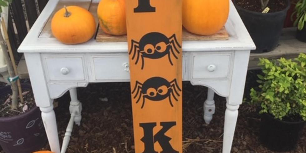 Halloween Porch Sign Class