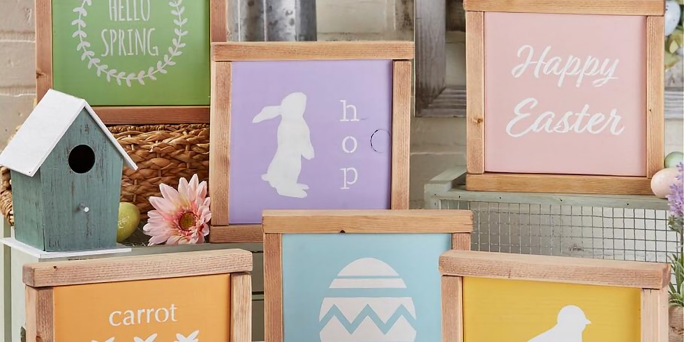 3 Mini Spring/Easter Signs-Afternoon class